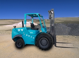 N Cross Country Forklift In The